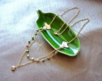 """""""Star of the sand"""" necklace * you want to have your jewelry that you like?   Contact Jolihanstyle for"""