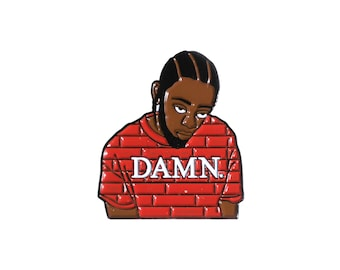 Kung Fu Kenny - Kendrick Lamar Damn Enamel Pin - Hip-hop Rap