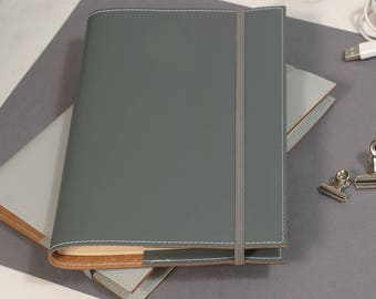A4 Recycled Leather Refillable Journal