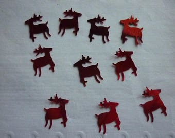Confetti red reindeer Christmas PVC.