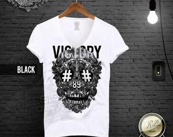 Designer Skull Shirt Black Skull Shirt Luxury Black Roses T shirt Unique Design Tank Top Mens Fashion T Shirt Fashion Top Victory tee MD454