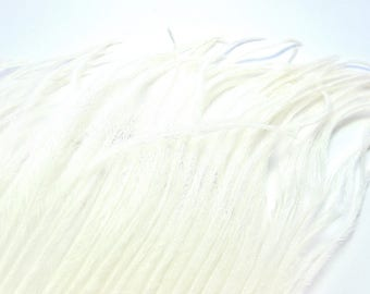 30 STRANDS OF DUVETS FEATHER OSTRICH WHITE NATURAL 8/10 CM D