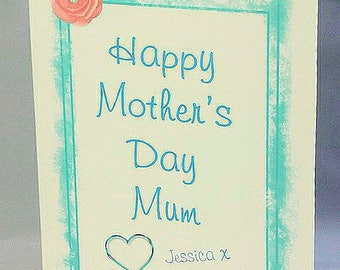 Personalised MOTHER'S DAY Card - Flowers