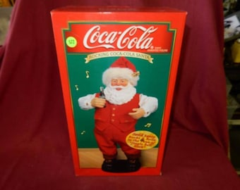 Vintage Dancing Coca Cola Coke Santa