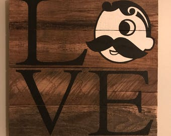 LOVE Natty Boh Sign // Custom // Gifts for Her // Gifts for Him // Wedding // Pallet // Maryland // Baltimore // Beach // Bay // Home Sign