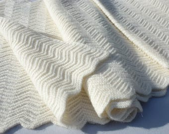 SNOOD collar 100% cashmere ivory Heritageconceptparis stitch Zig Zag, woman gift, Valentines gift, french gift, cashmere snood