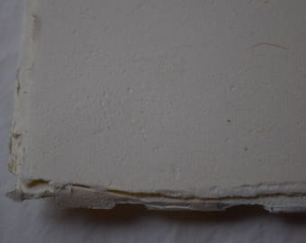 A4 Cordyline Cream - handmade, recycled paper