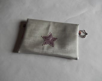 For a tidy bag personalized leather bi-material
