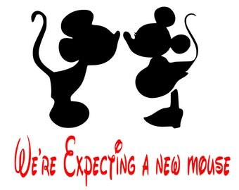 SVG, we're expecting a new mouse, pregnant minnie, maternity, disney, cut file, printable file, cricut, silhouette, instant download