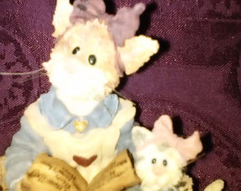 Purrstone Collection Boyds Bears and Friends Mama Purrsmore and Baby Belle w/ Rinky, Dinky & Dew