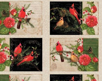 Christmas In The Wildwood Placemat Panel from Wilmington by the panel
