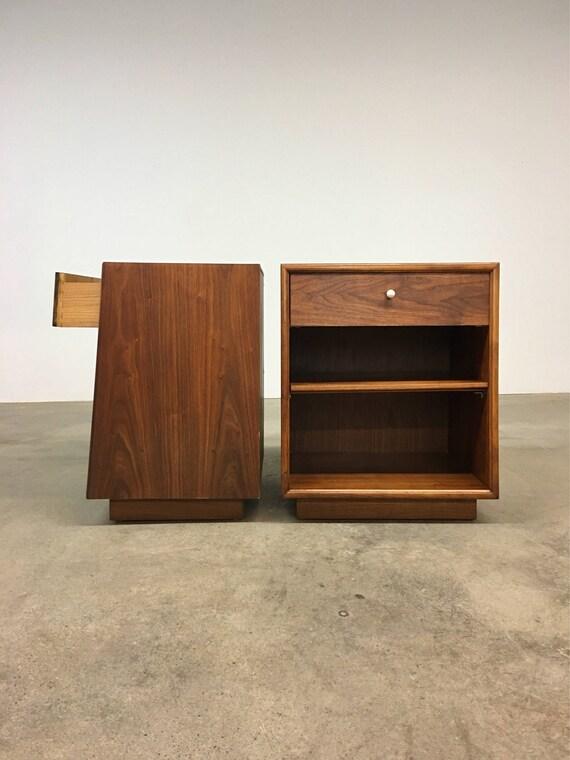 Mid Century | Drexel Declaration Nightstands by Kipp Stewart | Danish Modern