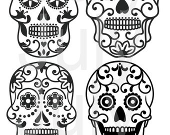 70 % OFF, Sugar Skulls SVG Cut Files, Candy Skull DXF,  Sugar Skulls Clipart, Sugar Skull Mask, dxf, png, jpg, eps, pdf, Sugar Skull Vector