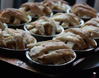 gourmet mini pie, gourmet fruit mini pies, mini  tartlets, mini tarts, handmade pies,fresh pie ,cherry blueberry peach apple pie
