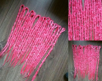16 pink neon dreads