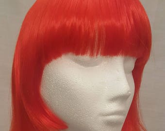 Red Orange short synthetic wig