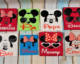 Disney Family shirts, FAMILY PACKAGE SALE!!, Family shirts, Personalized shirts, choose your design and shirt color, disney matching