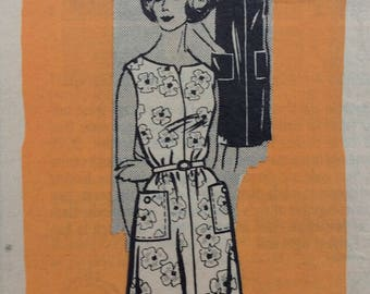 Mail order 9205 misses shift dress size 14 bust 34  vintage 1960's sewing pattern. Uncut  Factory folds