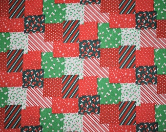 Christmas Patchwork Fabric, Christmas Fabric, Christmas Quilting Fabric, Quilting Fabric, Christmas Themed Fabric