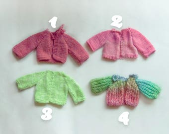 Jackets for the dolls, knitted jacket, doll clothes, doll, handmade jacket, handknitted, doll outfit