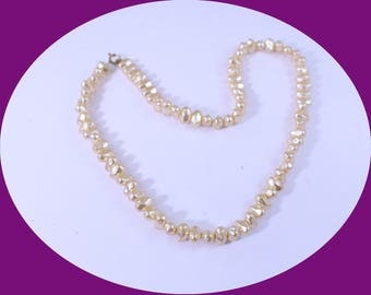 Chunky Pearl Necklace Vintage Single Strand Pearl Necklace vintage Jewelry