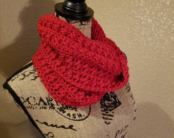 Infinity Scarf, Bright Red, Mobius Design