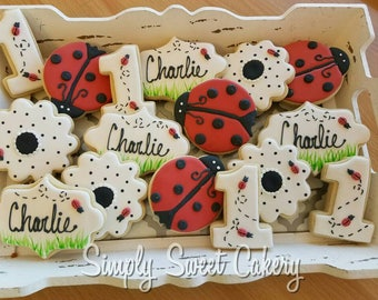 Lady Bug Sugar Cookies (16 cookies)