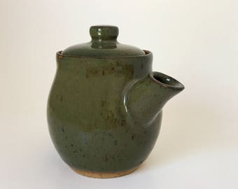 Small Soy Sauce Carafe, Green and Blue Small Teapot