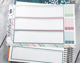 S-888 || -Ec Monthly Notes- JAN-FEB-MAR Habit Checklist (Removable Matte Stickers)