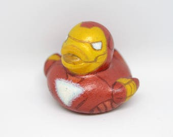 One of a Kind Mini Ironman custom rubber duck