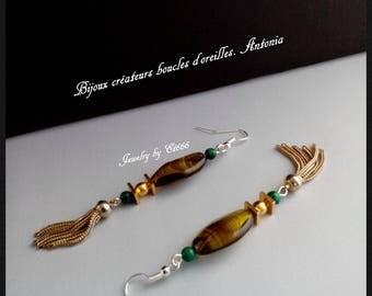 Jewelry designers earrings. Antonia