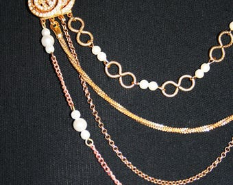 Sewing - INTEMPORELLES chains necklace