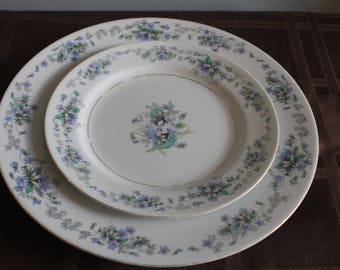 Violette Dinner and Salad Plates by Noritake