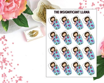 Abbey Loves To Sleep - Nap Time - Planner Stickers