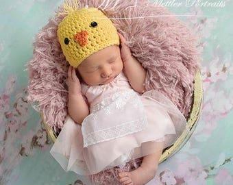 Baby Chick Hat | Baby Easter Hat | Newborn Photo Prop | Spring Baby Hat | Crochet Easter Hat | Easter Chick Hat | New Mom Gift | Baby Shower