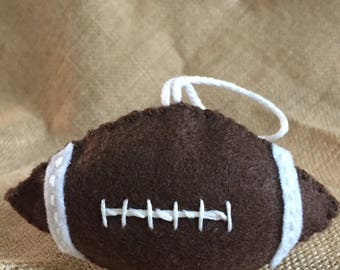 Football ornament/gift tag