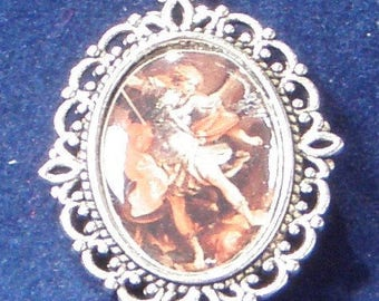 Saint Michael Archangel Religious Medal - Patron Saint of Warriors, Sick and Suffering