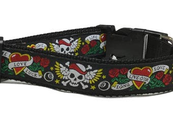 Dog Collar, Tattoo - Black