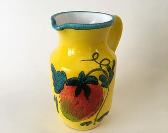 Small ceramic pitcher from Italy