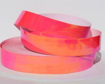 "1"" UV Reactive Pixie Slime Translucent Color Shifting JAMtape - Hula Hoop Tape - Fish Lure Tape - Decorative Craft - 50, 100, 150ft Roll"