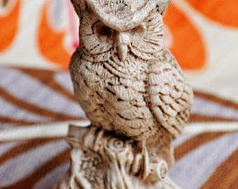 Owl - carved soapstone or resin