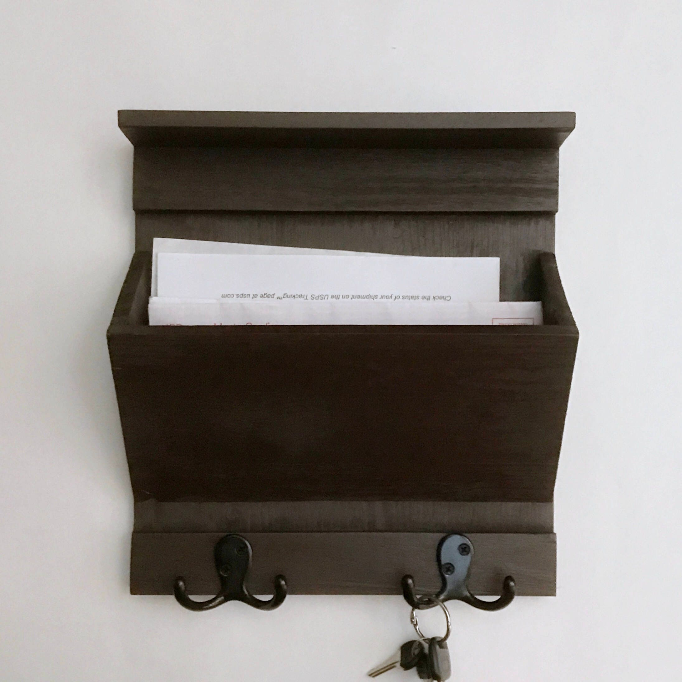 Entryway Organizer Lightweight Rustic Mail Key holder made