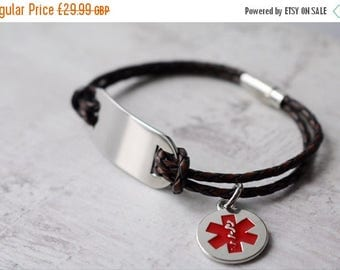 Summer Sale Men's Medical ID Bracelet - Personalized Medical Alert Bracelet