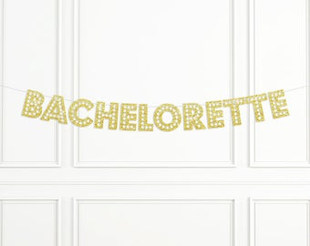 Bachelorette glitter banner, bachelorette party decor, bachelorette party sign, marquee letter banner