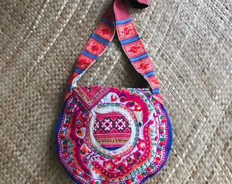 Hmong Hill Tribe Embroidery and Batik Handbag