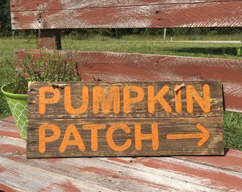 Pumpkin Patch Sign - Fall Pumpkin Sign - Fall Pallet Sign - Rustic Pumpkin Sign - Pumpkin Sign - Fall Home Decor - Distressed Sign