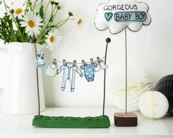 Baby Boy Washing Line