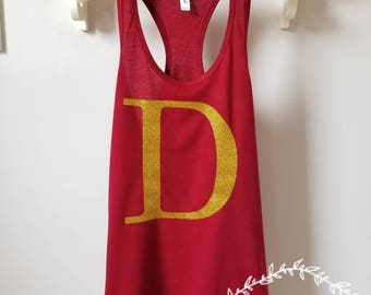 Harry Potter Tank Top - Mrs. Weasley Gryffindor Shirt FRONT & BACK - Hogwarts Shirt