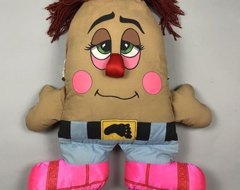 "Vintage 80s Pillow People Big 21"" Plush Footsteps Stuffed Toy // 1985"