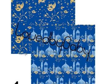 """LovedbyGaby scrapbook paper """"arabian nights"""""""